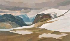 Alan Collier - Over Ellesmere Island 30 x 50 Oil on canvas Ellesmere Island, Canadian Art, Oil On Canvas, Artists, Illustration, Landscapes, Google Search, Paisajes, Scenery