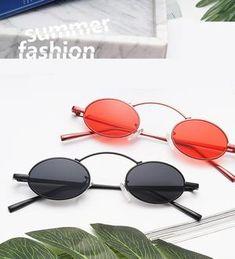 79fe2a10572 1990s Retro Small Oval Sunglasses Vintage Round Glasses