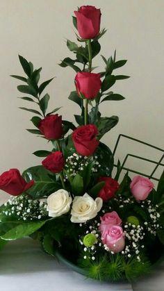 ❤️ Valentine Flower Arrangements, Tropical Flower Arrangements, Church Flower Arrangements, Rose Arrangements, Beautiful Flower Arrangements, Beautiful Rose Flowers, Amazing Flowers, Fresh Flowers, Wild Flowers