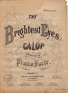 Vintage music cover. Digital download. Brightest Eyes
