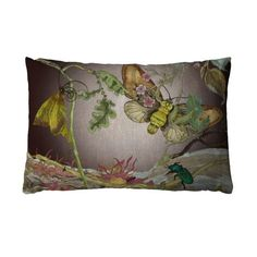 Indie Wood Moth Noir cushion. Exclusive to Liberty and Timorous Beasties 100% linen