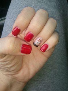 Image result for georgia bulldog nail designs