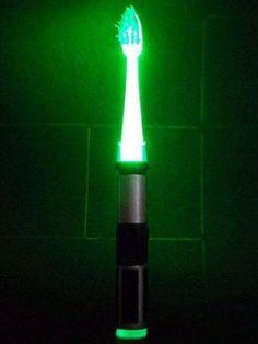 Lightsaber toothbrush
