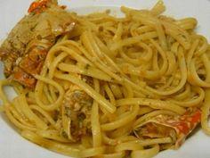 Spaghetti al granchio  http://www.ideapesce.it/ricette/spaghetti-al-granchio.html