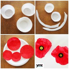 3 Beautiful Handcrafted Poppies for Remembrance Day Crafts For Seniors, Paper Crafts For Kids, Baby Crafts, Remembrance Day Activities, Remembrance Day Poppy, Anzac Day For Kids, Poppy Craft For Kids, Kindergarden Art, Wizard Of Oz Decor