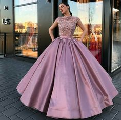 A line ball gown long prom dress Quince Dresses, 15 Dresses, Ball Dresses, Pretty Dresses, Ball Gowns, Formal Dresses, Vintage Prom, Frack, Quinceanera Dresses