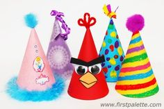 Birthday Hat craft-Make and decorate your own cone-shaped birthday party hat.