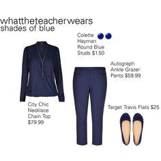 Shades of Blue #2 by whattheteacherwears on Polyvore featuring whattheteacherwears