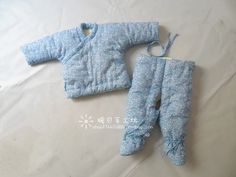 Handmade cotton cotton baby newborn baby cotton suit jacket trousers lace trousers winter Foot