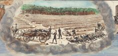 Detail illustration showing the burial of Union prisoners of war.