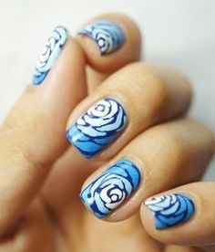 Blue Nails Art