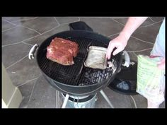 How to temporarily convert a Weber Grill into a BBQ smoker and use it to smoke a boston butt that is just as good as you will ever get from any smoker. Boston Butt, Weber Recipes, Weber Charcoal Grill, Smoked Pork Chops, Braai Recipes, Cheap Meat, Grill Time, Smoke Grill, Smoking Recipes