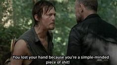 Merle Dixon: A simple-minded piece of shit. When I heard this, I fell even more in love with Daryl. He's become such a good man. Merle Dixon, The Walking Dead 2, Walking Dead Tv Series, Dead Zombie, Stuff And Thangs, Dead Man, Daryl Dixon, Norman Reedus, Zombie Apocalypse