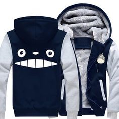 Camplayco Tonari no Totoro Logo Cosplay Blue Thick Padded Hoodie Size M -- Check out the image by visiting the link.