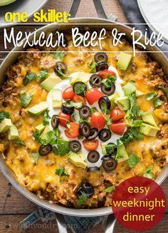 One Skillet Mexican Beef and Rice - I Wash... You Dry
