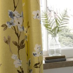Fryetts Fabrics  new watercolour floral for SS2015 'Alicia'
