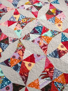 beautiful kaleidoscope quilt - wish I could remember who made it, just lovely!