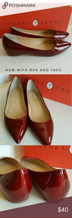 Red Patent leather pumps Gorgeous excellent condition Ivanka Trump Pumps for going out it to wear to the office.  These are the BEST pumps on the planet.  :). Ivanka Trump Shoes Flats & Loafers