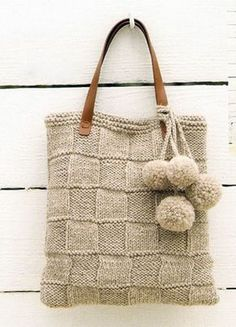 "the collection ""autumn-winter"" bags, crocheted and knitted Crochet Handbags, Crochet Purses, Crochet Bags, Knit Crochet, Hand Knitting, Knitting Patterns, Crochet Patterns, Purse Patterns, Sewing Patterns"