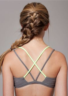 criss-cross straps won't restrict your moves. | Stretch And Go Sports Bra