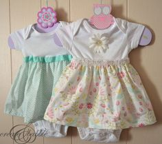 ideas for sewing baby clothes girl onesie dress Baby Outfits, Little Girl Dresses, Girls Dresses, Baby Dresses, Peasant Dresses, Dress Girl, Barbie Dress, Short Dresses, Sewing Baby Clothes