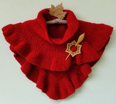 Red Knitted Pullover Shawl Thingie | Content in a Cottage  PATTERN ANY ONE?