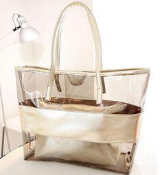 363dc5a0de0f Summer Beach Bag Transparent Composite Bag Sets