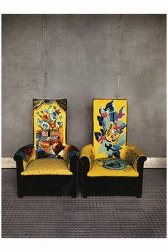 Two Chairs At Maison De Verre, Paris 1982  Photo Evelyn Hofer