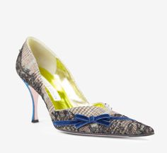 Christian Lacroix Pink, Black And Multicolored Pump