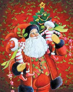 JWM Collection Holding on for Christmas Canvas Art by Lynn Haney 16 inch by 20 | eBay