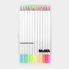 Fluorescent Coloured Pencil Set from Moma (for highlighting and colouring)... Tori's friend Caroline would like these