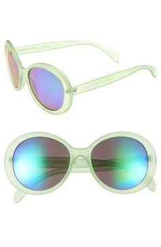 Steve Madden 65mm Round Sunglasses
