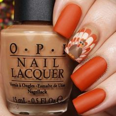 Unordinary Thanksgiving Nail Art Designs Ideas For Fall Season - Nails Art, Nail Art Designs, Creative Nail Designs, Creative Nails, Nails Design, Creative Ideas, Thanksgiving Nail Designs, Thanksgiving Nails, November Thanksgiving, Thanksgiving Turkey