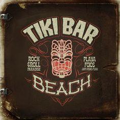 tikibar Beach logo by Leviathan ••• #design #creative #create #graphic #vintage #diseño #lifestyle #rockNroll #psychobilly #art #rockabilly #hotrod #motocicletas #bikers