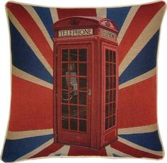 British Telephone Pillow