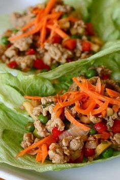 Asian Turkey Lettuce Wraps - made these tonight...yum! So easy & kids love them because they can make their own....served with brown rice = healthy & low carb!