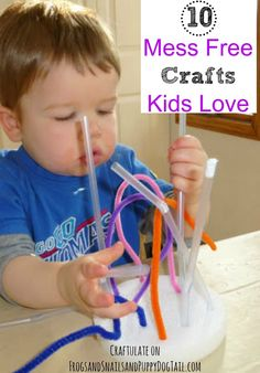 10 Mess Free Crafts.