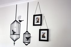 Wall art done with electrical tape!  I have seen others but this one is one of the best I think.