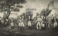 The Captioned Adventures of George Washington, by ladyhistory / is this percy jackson Percy Jackson, History Jokes, Funny History, Art History, Capture The Flag, Last Unicorn, Thing 1, Art Memes, I Love To Laugh