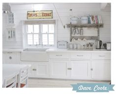 Serious love here!  Love the all white, but it needs some red and aqua accents!!!