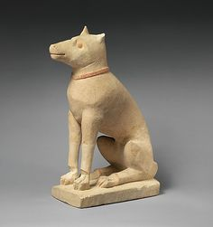 Limestone dog, ca. 4th–3rd century B.C. Late Classical or Early Hellenistic. Cypriot. The Metropolitan Museum of Art, New York. The Cesnola Collection, Purchased by subscription, 1874–76 (74.51.2623) #dog