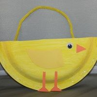 Baby Chick Basket Craft