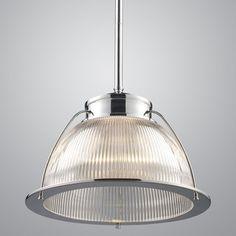 """Streamline Holophane Glass Pendant - 16""""  pendant lighting"""