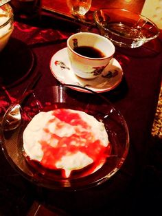 Riskrem, a classic Norwegian dessert for Christmas; rich, sweet and creamy with a tangy raspberry sauce = recipe for success!