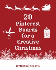 20 Pinterest Boards for a Creative Christmas - crafts, decorations, traditions, homemade gifts Christmas Makes, All Things Christmas, Holiday Fun, Christmas Time, Christmas Ideas, Family Holiday, Christmas Cookies, Holiday Ideas, Merry Christmas