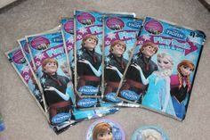 Frozen Birthday Party   Favors  Frozen Play Packs from Dollarama and Michaels