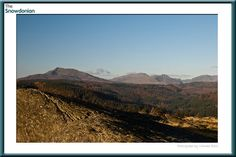 The mountains above Betws-y-Coed