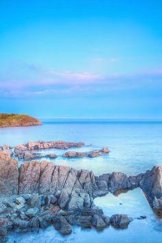 Bright Coastal - Newfoundland, Canvas Frame, Wrapped Canvas, Coastal, Bright, Art Prints, Sunset, Paper, House