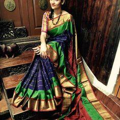 Uppada Pure Silk Checks Saree at WhatsApp: Uppada Pattu Sarees, Kanchipuram Saree, Ikkat Silk Sarees, Soft Silk Sarees, Handloom Saree, Cotton Saree, Salwar Kameez, Designer Sarees Online, Silk Sarees Online