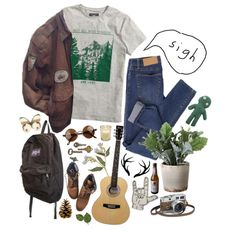 I'm a dull boy with a dead dream by purpleghost on Polyvore featuring H&M, Cheap Monday, Topshop, JanSport, Torre & Tagus, AG Adriano Goldschmied and Hermès